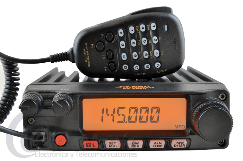 YAESU FT-2980E TRANSCEPTOR DE VHF CON 80W, 221 MEMORIAS, MICROFONO CON DTMF,... - Emisora móvil Yaesu FT-2980E robusta, resistente y de alta potencia con 80 W de potencia, 221 canales de memoria alfanumericas, dispone de un gran display de cristal liquido, tonos DCS y CTCSS, un rango de frecuencia de 136 a 174 Mhz en RX, dispone de un sistema de búsqueda inteligente, y de un gran receptor gracias a sus filtros de RX, incluye micrófono con DTMF y con posibilidad de entrada de frecuencias desde su teclado,.....