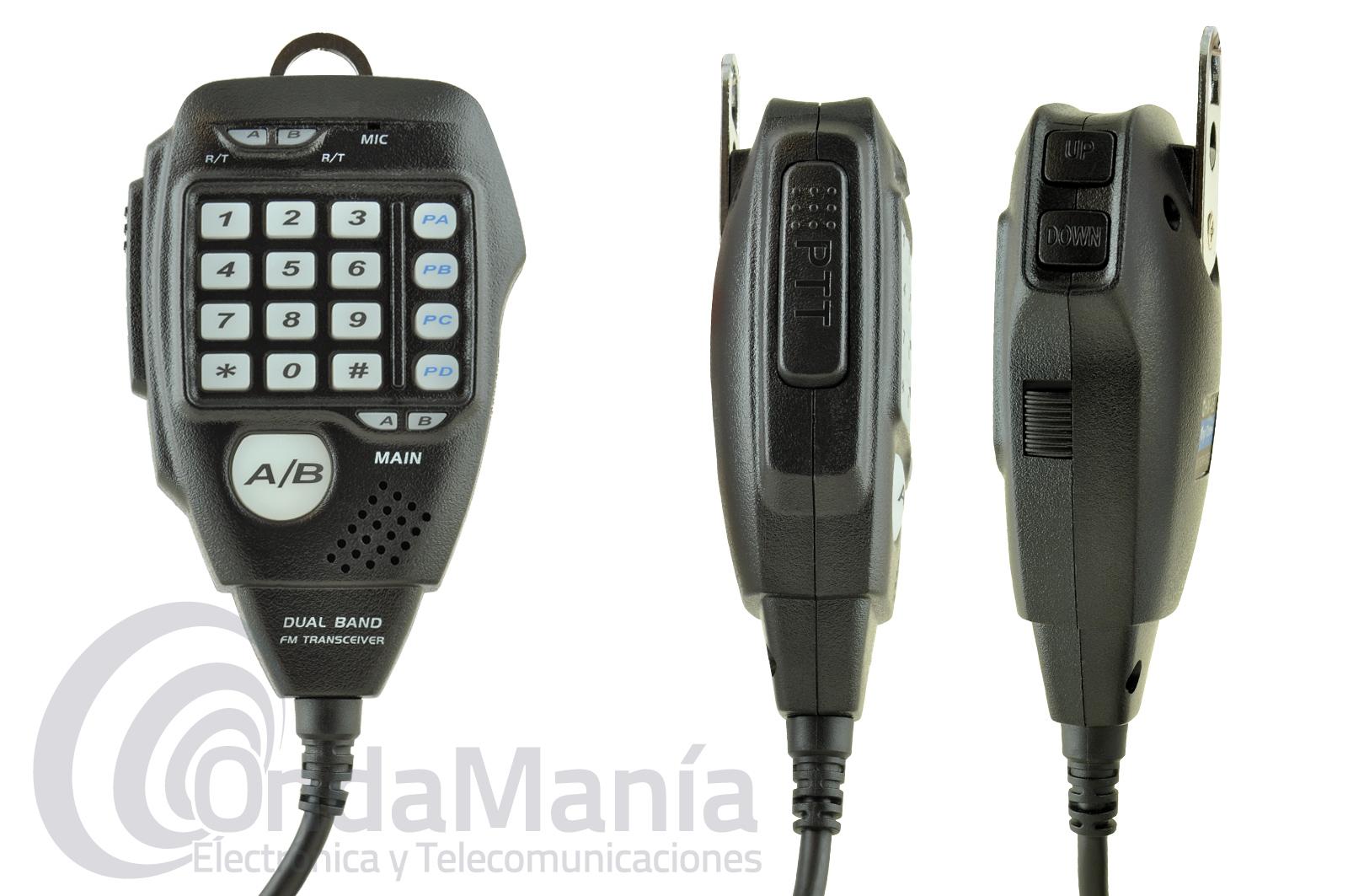 ANYTONE AT-778UV TRANSCEPTOR DOBLE BANDA VHF/UHF CON 25 W