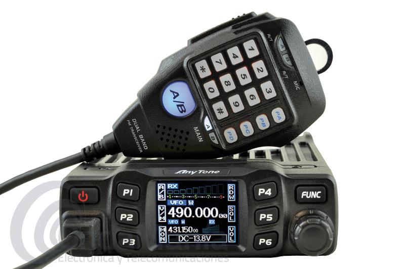 ANYTONE AT-778UV TRANSCEPTOR DOBLE BANDA VHF/UHF CON 25 W  200 MEMORIAS+PORTE GRATIS - El Anytone AT-778UV es un transceptor doble banda VHF y UHF con 3 niveles de potencia 25, 15 y 5 W, dispone de 200 canales de memoria, CTCSS y DCS, incluye micrófono DTMF multifunción, podemos subir y bajar canales, cambiar la banda,….