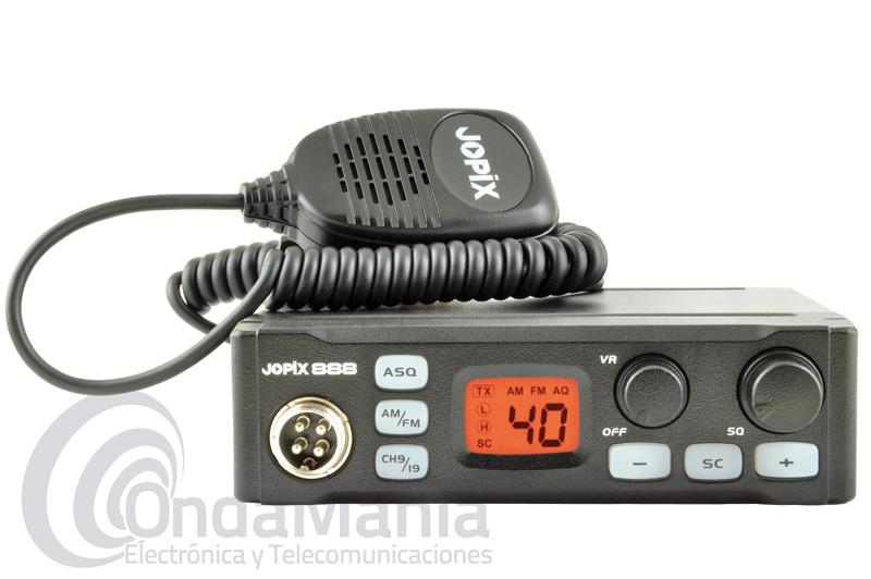 JOPIX 888 TRANSCEPTOR DE BANDA CIUDADANA CB-27 MULTINORMA CON AM Y FM