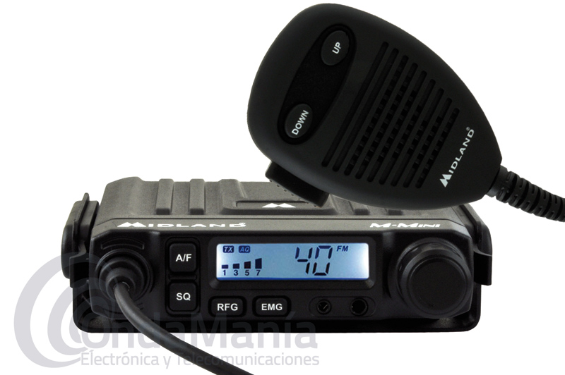 MIDLAND M-MINI EMISORA DE 27 MHZ CB DE REDUCIDO TAMAÑO MULTINORMA CON AM Y FM - OUTLET -