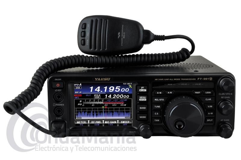 YAESU FT-991A TRANSCEPTOR TODO MODO MF/HF/VHF/UHF CON C4FM Y PANTALLA TACTIL - NUEVA VERSION!! - La nueva emisora Yaesu FT-991A incluye todas las bandas MF/HF/VHF/UHF con C4FM y también operación multimodo en CW, AM, FM, SSB y los modos digitales.