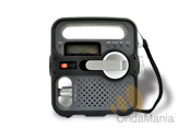 ETON SOLARLINK FR-360 - Radio digital con AM/FM/OC con carga por panel solar y dinamo, dispone de USB y luz de emergencia.