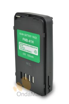 BATERIA FNB-41H - FNB-41H Batería Ni-Mh para equipos Yaesu tipo FT-10, FT-41, FT-50R, VX-10, VXA-100 de Ni-Mh con 9,6V y 1000mAh.