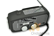 ETON MICROLINK FR-160 - Radio analógica con AM y FM, incorpora luz de emergencia, dinamo, placa solar, toma USB....