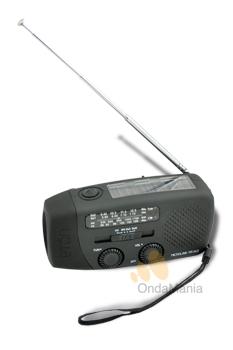 ETON MICROLINK FR-140 - Radio analógica con AM y FM, incorpora luz de emergencia, dinamo, placa solar,....