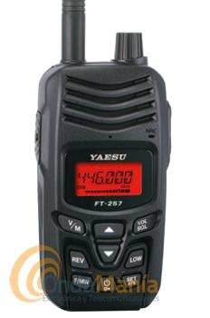 YAESU FT-257 RECEPTOR UHF FM - Nuevo diseño ergonómico y gran pantalla LCD retroiluminada para una mejor operación.Carcasa resistente y sumbergible (norma IPX5).Memoria de 200 canales.Alerta ATS cuando se mueve fuera del rango de comunicación.