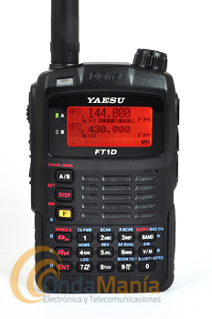 EQUIPO DE EXPOSICION!! YAESU FT1DE NEGRO TRANSMISOR DOBLE BANDA DIGITAL 144/430 MHz