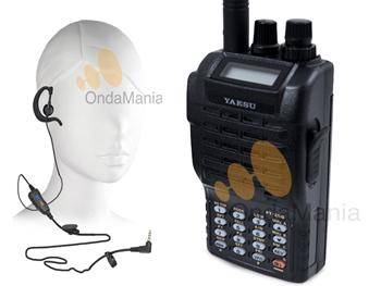 YAESU FT-250E + ACCESORIOS (MICRO ALTAVOZ, PINGANILLO,...) - Yaesu FT-250, transceptor portatil de VHF con 5 W. de potencia, 209 memorias, incluye tonos CTCSS y DCS, teclado con DTMF y batería de Ni/Mh FNB-83 con 1400 mAh. incluye pinganillo de regalo.