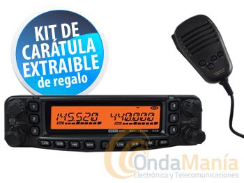 YAESU FT-8900E+REGALO KIT CARATULA+ADAPTADOR N-PL+ALTAVOZ EXTERNO - El Yaesu FT-8900 es un transceptor móvil de 4 bandas full duplex VHF/UHF/6m* y 29 Mhz., con una potencia de 50 y 35 W. y 800 memorias. Y regalo del KIT DE CARATULA EXTRAIBLE.