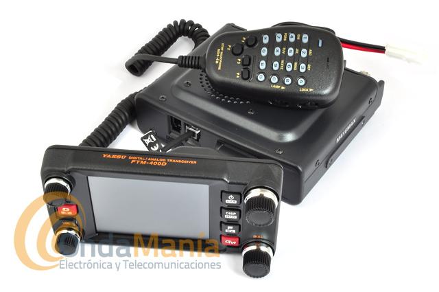 YAESU FTM-400XDE TRANSCEPTOR MOVIL DIGITAL/ANALOGICO C4FM/FM DOBLE BANDA - Doble banda VHF/UHF analógico y digital C4FM/FM con 50 W de potencia, visibilidad avanzada y operatividad con un panel de funcionamiento táctil a todo color con 3,5 pulgadas y 500 canales de memoria por cada banda. Versión FTM-400XDE. APROVECHATE DE LA OFERTA CASHBACK, YAESU TE DEVUELVE 50 € POR LA COMPRA DE TU EQUIPO (HASTA 31/12/2017).