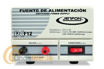 JETFON PC-F12 FUENTE DE ALIMENTACION 10/12 AMP.