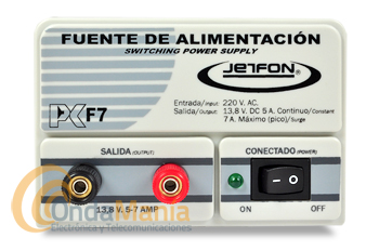 JETFON PC-F7 FUENTE DE ALIMENTACION 5/7 AMP.