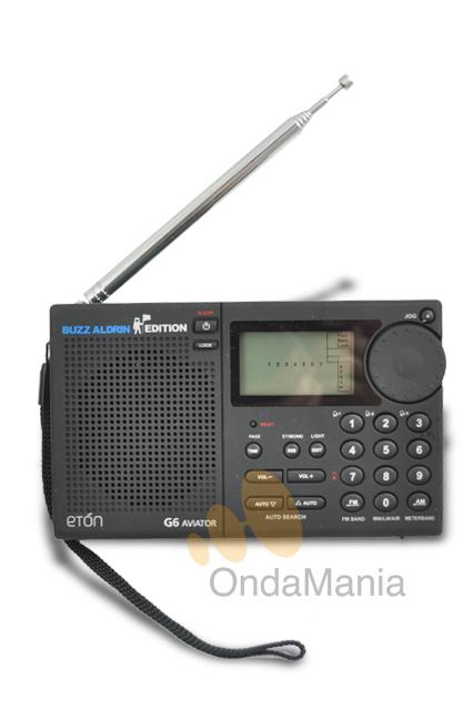 ETON G6 AVIATOR - Receptor portatil multibanda con AM/FM/Banda Aerea y Onda Corta con banda lateral, tiene 700 memorias, reloj, alarma, sleep,....