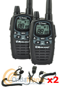 MIDLAND G7E PRO PAREJA PMR DE USO LIBRE + 2 PINGANILLOS - Nuevo Midland G7 Pro. Dual PTT, side tone, audio profesional, 38 CTCSS, 104 códigos DCS, dual watch, vibracall, vox, scan.