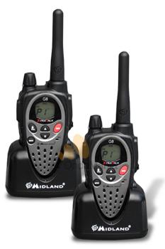 MIDLAND G8 PMR-446 DUO - Pack Duo PMR Midland G-8 con 16 memorias, 1240 subcanales (50 subtonos CTCSS y 104 tonos DCS), EMG, fuera de cobertura, VOX, vibracal, scan,....