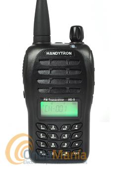 HANDYTRON HD-5 PARA CAZA EN ARAGON INCLUYE LICENCIA+PINGANILLO DE REGALO - Transceptor homologado comercial profesional robusto y acostumbrado a trabajar duro.Con sus 199 canales tiene un peso detan sólo 215 gr. con batería de alta capacidadyantena. Homologado para caza en Aragón, el precio incluye la licencia de caza en Aragón.