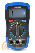HIBOCK 80 MULTIMETRO DIGITAL - Con estepolímetropuede medir corriente alterna, continua, resistencias, dispone de avisador acústico y a sualrededor lleva una goma anti-golpes.
