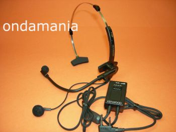 KENWOOD HMC-3 - El Kenwood HMC-3 es un micrófono auricular con conmutador de PTT/VOX con diadema.