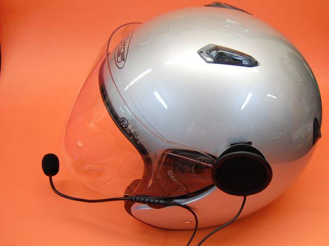 KIM-66S / HS02A MICROFONO ALTAVOZ PARA CASCOS SEMI-INTEGRALES O DE MENTONERA - Micrófono auricular HS02A para la mayoria de walky-talkyes del mercado,... especial para cascos de moto no integrales.