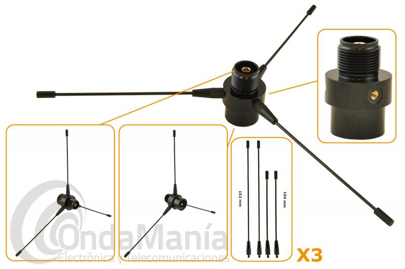 RE-02 KIT PLANO DE TIERRA PARA ANTENAS DE MOVIL O BASE