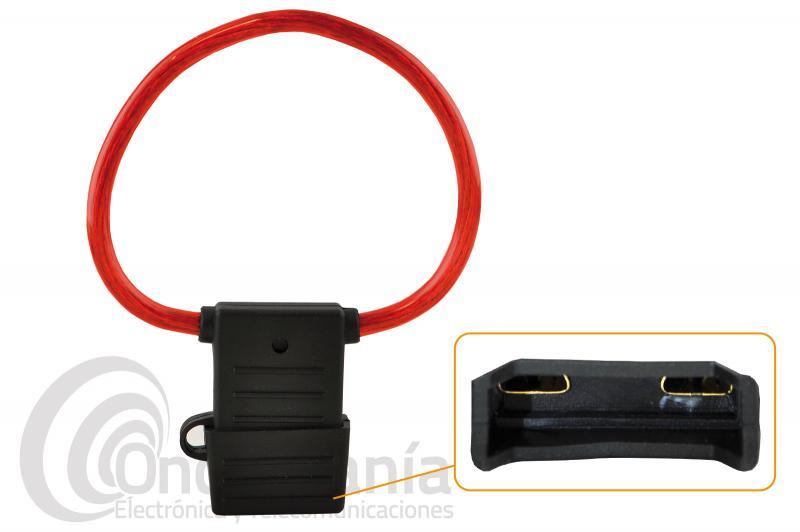 PORTA-FUSIBLE MAXI ESTANCO CON CABLE - Porta-fusible maxi estanco con cable