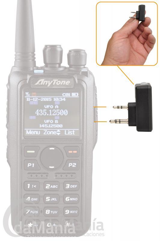 TELECOM DBT-6800-K DONGLE BLUETOOTH CON CONMUTACION TIPO KENWOOD 2 PINS