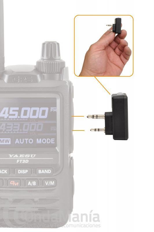 TELECOM DBT-6800-M DONGLE BLUETOOTH CON CONMUTACION TIPO MOTOROLA/YAESU 2 PINS