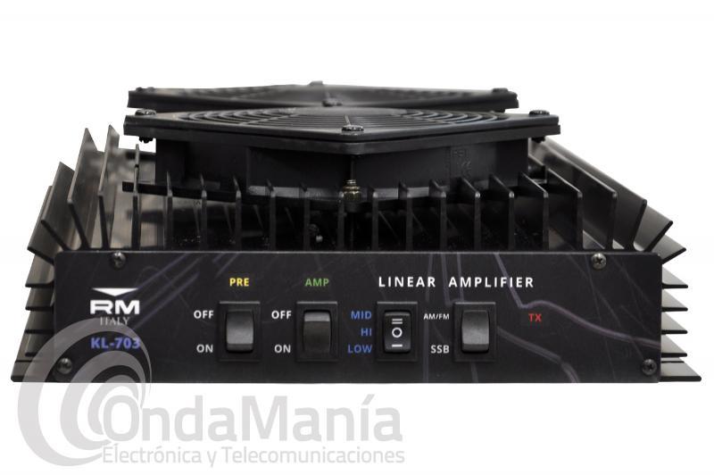 AMPLIFICADOR LINEAL CON PREVIO RM KL-703 DE 25 A 30 MHZ, 500 W MAX.