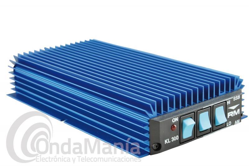 AMPLIFICADOR LINEAL CON PREVIO PARA RX DE HF/CB 25 A 30 MHZ DE 150 A 300 W 12 VDC RM KL-300-P