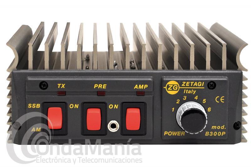ZETAGI B-300P AMPLIFICADOR CON PRE-AMPLIFICADOR DE 20A 30 MHZ, 12 V, 200 W AM Y 400 SSB