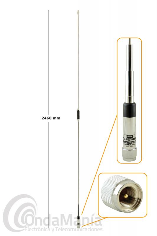 ANTENA MOVIL 5/8 PARA 144 MHZ D-ORIGINAL DX-NR22L