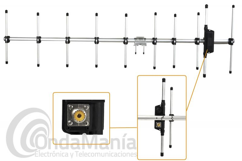 ANTENA DIRECCIONAL PARA UHF 430 A 440 MHZ DIAMOND A430S10R2