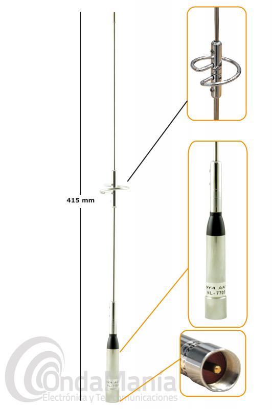 ANTENA DOBLE BANDA VHF/UHF PARA MOVIL NAGOYA NR-770S