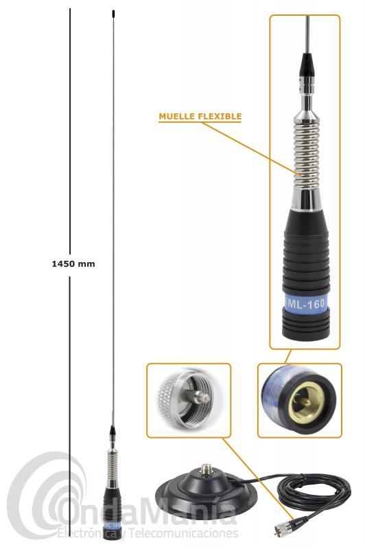 ANTENA MAGNETICA DE BANDA CIUDADANA CB-27 PNI ML-160 + PNI -145PL