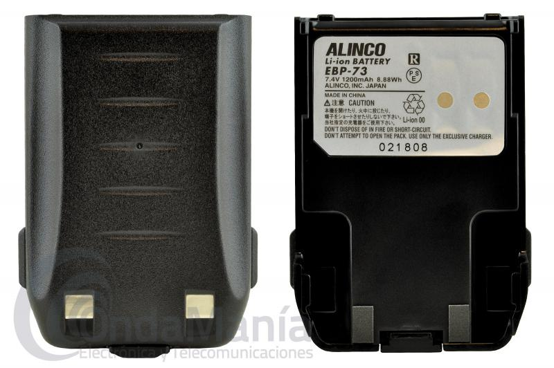 ALINCO EBP-73 BATERIA PARA DJ-G7 DE LI-ION CON 7,4 V Y 1200 MAH - Batería Alinco EBP-73 de Li-Ion con 7,4 V 1200 mAh para el Alinco DJ-G7