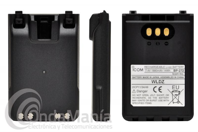 BATERIA ICOM BP-272 COMPATIBLE CON LOS ICOM IC-705, ID-31, ID-51, IC-31, IP-100H,...