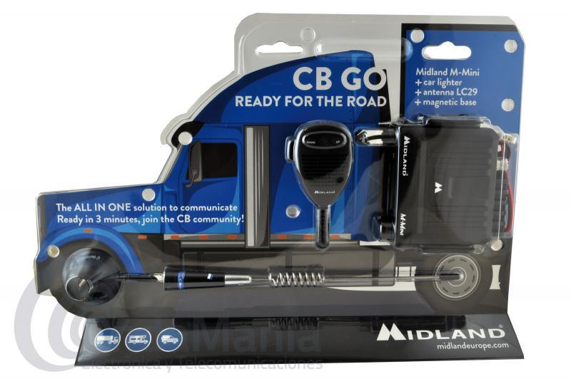 MIDLAND CB-GO PACK COMPUESTO POR EMISORA CB MIDLAND M-MINI USB+ ANTENA MAGNETICA LC-29
