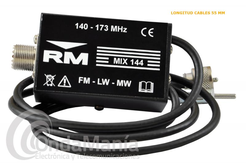 DUPLEXOR RM MIX-144 PERMITE CONECTAR UNA ANTENA DE VHF A LA EMISORA Y AUTO-RADIO DEL VEHICULO