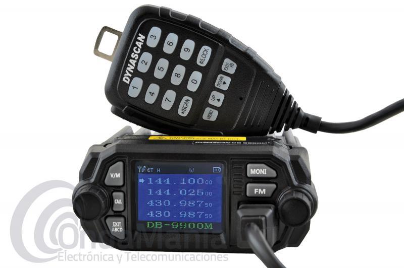 DYNASCAN DB-9900M MINI EMISORA DOBLE BANDA UHF/VHF CON 25 Y 20 W DE POTENCIA