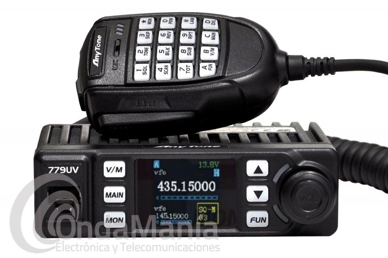 EMISORA DOBLE BANDA VHF - UHF ANYTONE AT-779UV CON RADIO FM COMERCIAL
