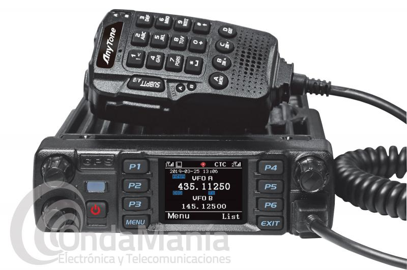EMISORA MOVIL DOBLE BANDA DIGITAL DMR Y ANALOGICA ANYTONE AT-D578UV PRO CON BLUETOOTH, GPS APRS,,...