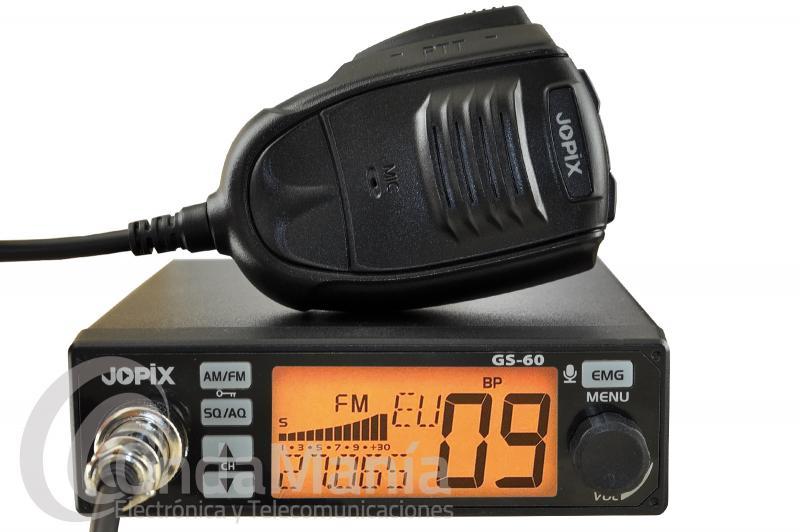 EMISORA DE BANDA CIUDADANA CB-27  JOPIX GS-60 MULTINORMA  CON AM Y FM