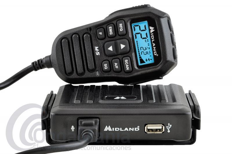 MIDLAND M-5 EMISORA ULTRA COMPACTA CON MICROFONO MULTICONTROL CON LCD