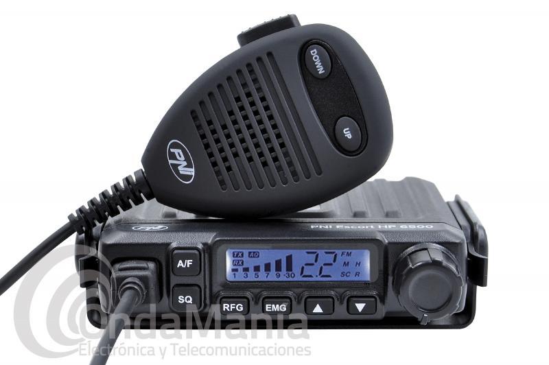 MINI EMISORA DE BANDA CIUDADANA CB-27 PNI ESCORT HP-6500 CON AM/FM, 4 W, CONECTOR DE ENCENDEDOR