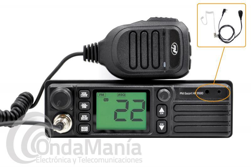 EMISORA DE BANDA CIUDADANA CB-27 PNI ESCORT HP-9500 MULTI-NORMA, AM Y FM, 4 W, PINGANILLO INCLUIDO