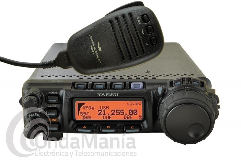 YAESU FT-857D TRANSCEPTOR DE HF CON DSP-2 + YSK-857 KIT CABEZAL EXTRAIBLE - El Yaesu FT-857D con DSP2 es un equipo móvil/base multibanda todo modo de HF, 50 Mhz. (6 m), VHF y UHF con DSP incorporado, la potencia de transmisión es de 100 W en HF y 50 MHZ., 50 W en VHF y 20 W en UHF. Incluye YSK-857 kit cabezal extraible.