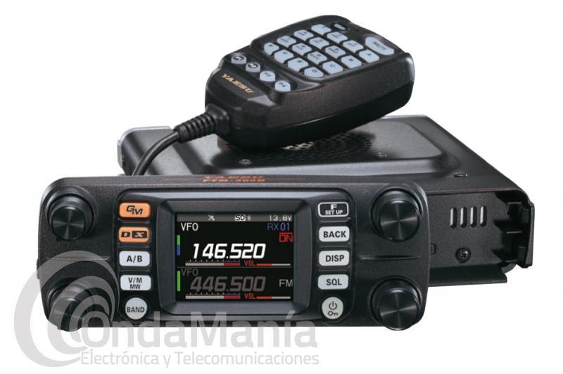EMISORA DOBLE BANDA VHF/UHF YAESU FTM-300DE ANALOGICA Y DIGITAL CON 50 W DE POTENCIA