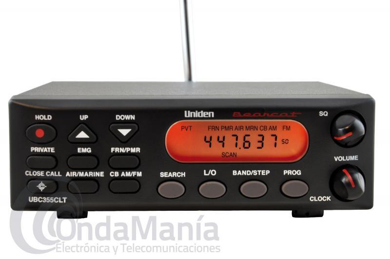 UNIDEN UBC355CLT ESCANER DE SOBREMESA DE 25 A 969 MHZ RE, CON 300 CANALES DE MEMORIA ,... - Uniden UBC355CLT receptor-escáner de sobremesa con una cobertura de 25 a 960 Mhz, repartida en 4 bancos de 25 a 87, 108 a 174, 406 a 512 y de 806 a 960 Mhz, 300 canales de memoria, display LCD con indicador de funciones, saltos de frecuencia 5, 6.25, 10, 12.5 y 8.33 en banda aérea.