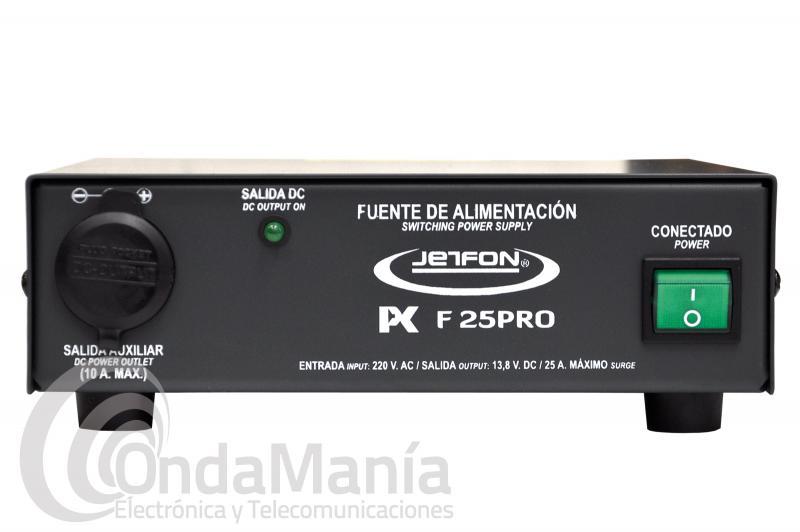 JETFON PC-F25PRO FUENTE DE ALIMENTACION CONMUTADA 23/25 AMP.